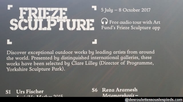 Regent's Park Programme-Frieze-sculptures-2017