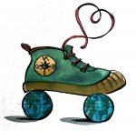 logo des roulettes sous les pieds