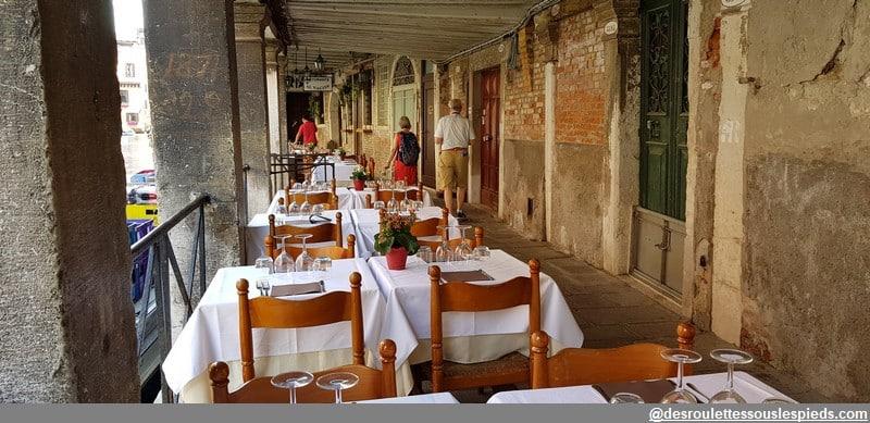 un jour à venise restaurant sous les arcades