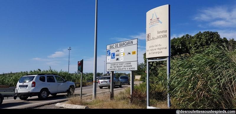 visiter la camargue parking du bac de Barcarin