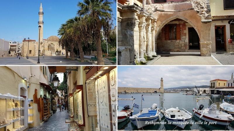 visiter crete ouest ville port rethymnon