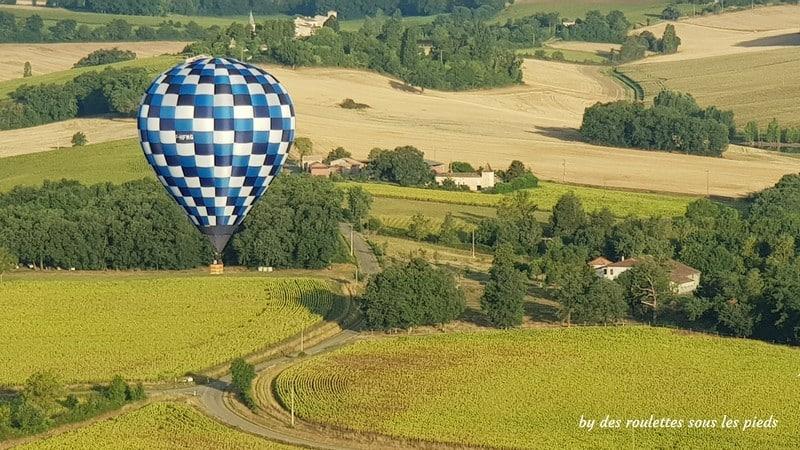voler en montgolfière au dessus de la Lomagne