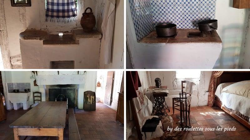 intérieur de la maison du métayer de l'écomusée de Marquèze dans les Lande