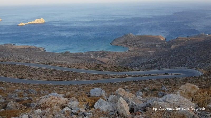 Visiter l'est de la crète vue sur xerokambos