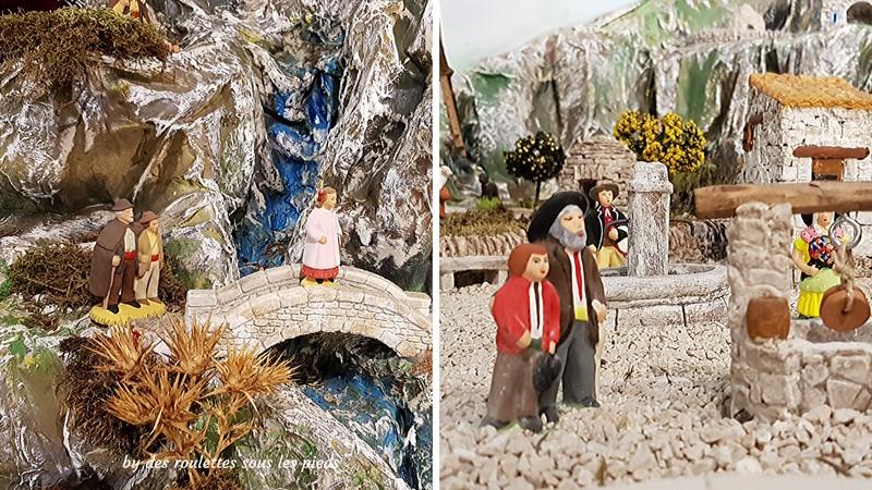 les santons de provence l'aveugle et son fils
