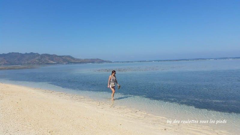 Deux jours sur gili air plage