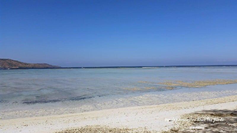Deux jours sur gili air mer turquoise