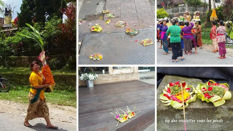 visiter le sud de Bali les offrandes