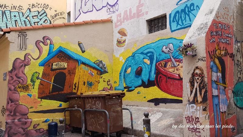 visiter le panier à marseille street art