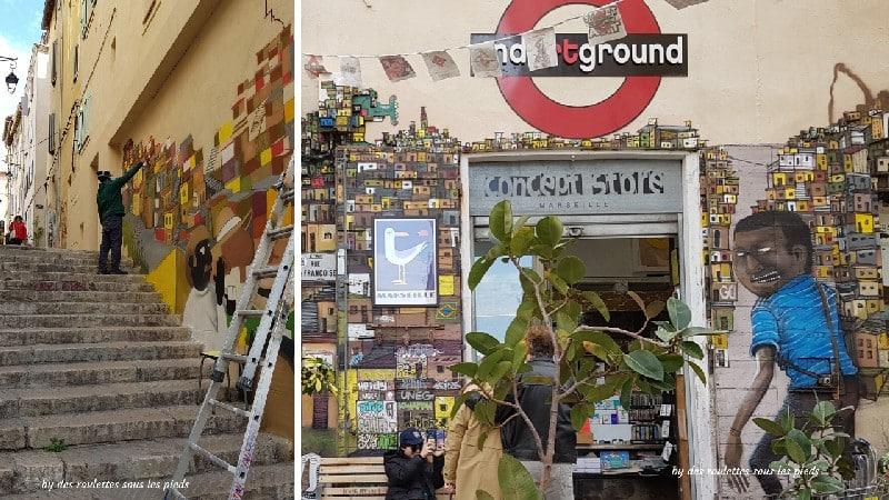 visiter le panier à marseille street art et unartground concept store