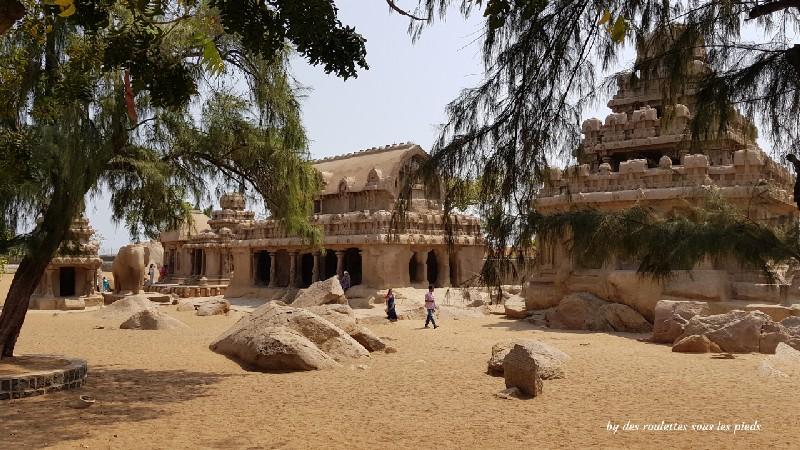 visiter-mahabalipuram-et-pondichery les cinq rathas
