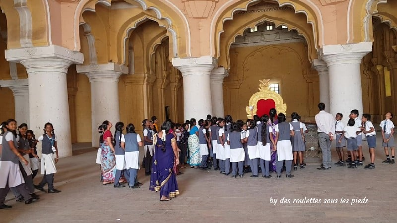 visiter madurai  salle du trône thirumalai nayak palace