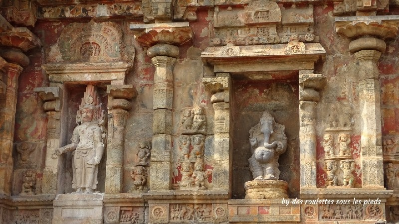 visiter la région de tanjore au tamil nadu sculptures polychrones gangaikondacholapuram temple