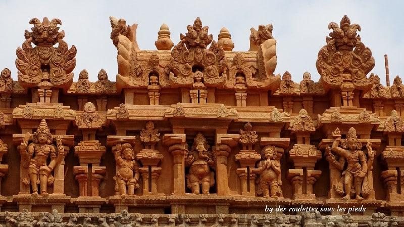 visiter la région de tanjore au tamil nadu thanjavur temple décors sculptés