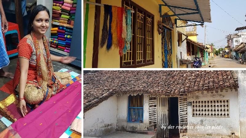visiter la région de tanjore au tamil nadu tisserand pour sari
