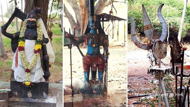 visiter le nord-ouest du tamil nadu divinités animistes kamarajar