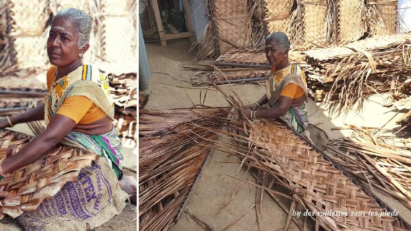 visiter le nord-ouest du tamil nadu tresseuse de palmes de cocotier