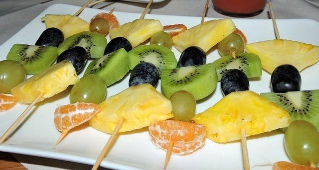 recettes de cuisine saine et gourmande brochette de fruits frais