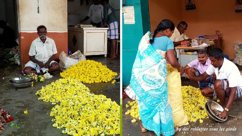 visiter le nord-ouest du tamil nadu pesée des fleurs