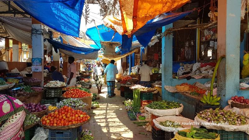 visiter le nord-ouest du tamil nadu marché aux légumes nilakottai