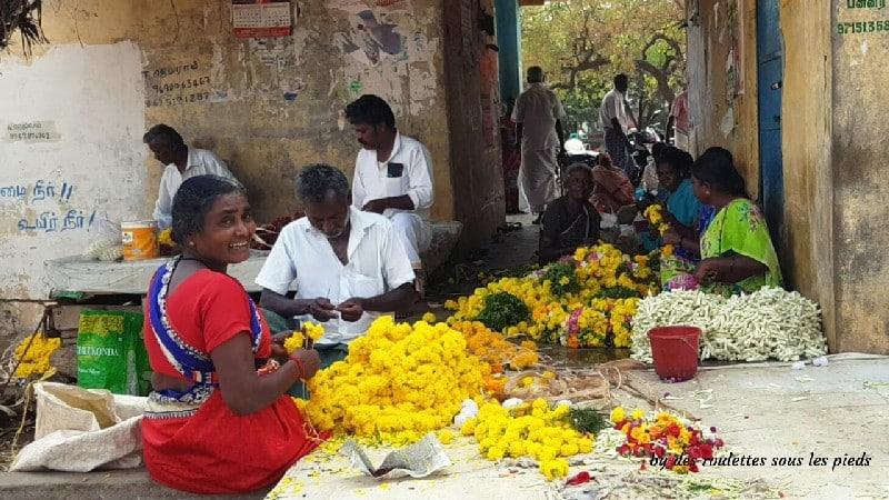 visiter le nord-ouest du tamil nadu tressage des fleurs