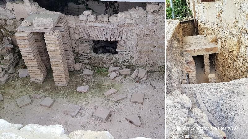 villa gallo-romaine de séviac hypocauste thermes