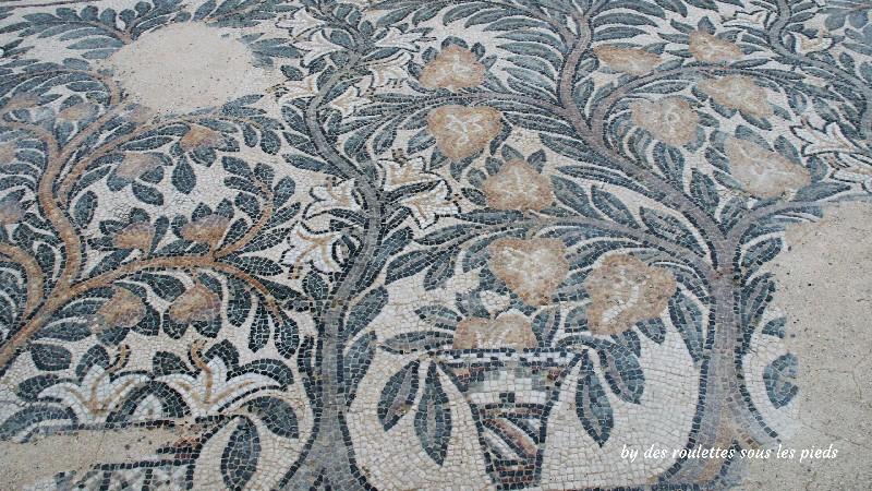 villa gallo-romaine de séviac mosaïque aux arbres