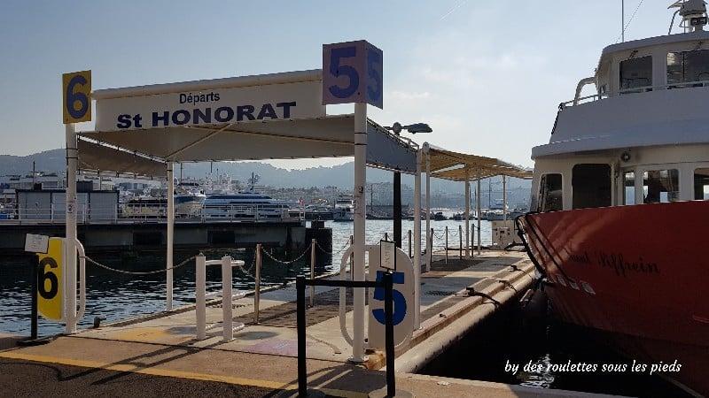visiter l'île Saint Honorat embarcadère cannes